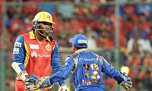 Chris Gayle exits against Mumbai Indians