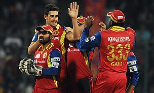 Mitchell Starc registered figures of 3-20 as Royal Challengers Bangalore demolished Delhi Daredevils by 10 wickets.