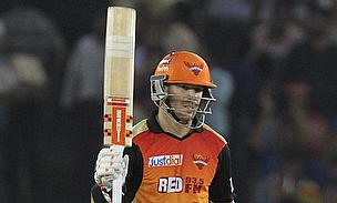 David Warner scored a 41-ball 58 as Sunrisers Hyderabad defeated Kings XI Punjab by 20 runs in Mohali.
