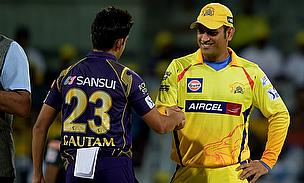 Kolkata Knight Riders captain Gautam Gambhir and Chennai Super Kings captain MS Dhoni during their previous encounter in Chennai on Tuesday.