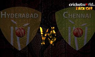IPL8 Face-Off - Hyderabad v Chennai - Game 34