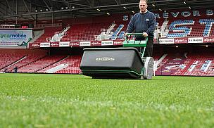 West Ham United head groundsman Douglas Roberts uses the Dennis G860 to keep Upton Park in great condition