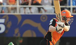 Eoin Morgan scored a 28-ball 63 as Sunrisers Hyderabad defeated Rajasthan Royals by seven runs in Mumbai.