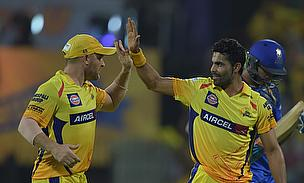 Brendon Mccullum (left) scored a blistering 81 while Ravindra Jadeja (right) picked a four-wicket haul as Chennai Super Kings defeated Rajasthan Royal