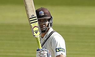 Kevin Pietersen raises his bat