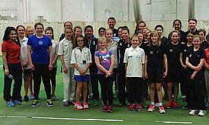 England Internationals Pass On Tips To Girls In Leicester