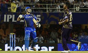 Shane Watson scored a brilliant unbeaten century as Rajasthan Royals make it to the play-offs of the 2015 Indian Premier League.