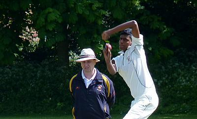Sharuban KP Kanthasamy who took a wicket with the very last ball to tie our 1st XI  game versus Harrow Town in the Middlesex County Cricket League o