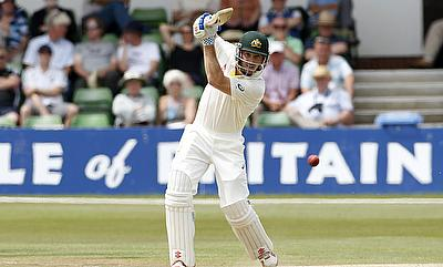 Shaun Marsh in action during the tour game against Kent on Thursday.