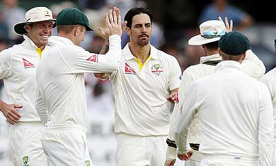 Mitchell Johnson registered figures of 3-42 as Australia dominated Kent on day two of their tour game in Canterbury.