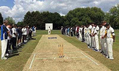 A minute's silence was held in memory of Nathan Theebaraj