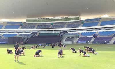 Mobility warm-ups in Abu Dhabi