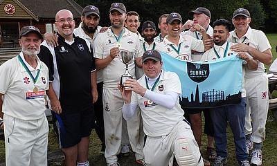 The winning Surrey Brown Caps squad