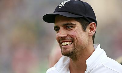 Alastair Cook smiles after England's win in Cardiff