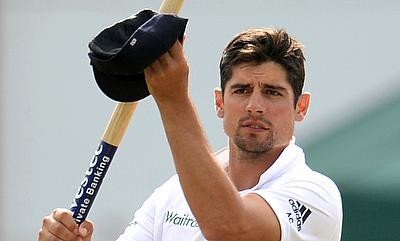 Alastair Cook celebrating the 169-run win over Australia in the first Ashes Test in Cardiff.