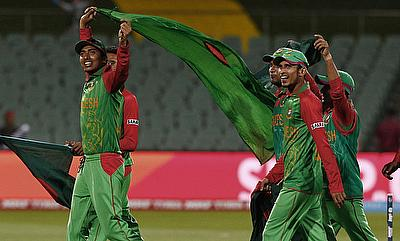 Soumya Sarkar (left) played another blinder of innings as Bangladesh defeated South Africa by nine wickets in the third ODI in Chittagong