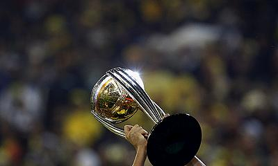 The Cricket World Cup hoisted aloft by Australia