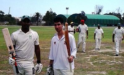 Liam Azzopardi (right) was man of the match as Marsa CC beat Krishna CC