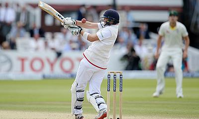 Joe Root pulls a ball at Lord's