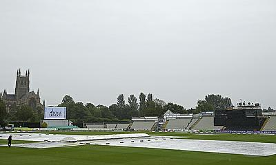 The gloomy scene at Worcester where the third Women's Ashes ODI was postponed