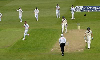 England celebrate a wicket at Trent Bridge