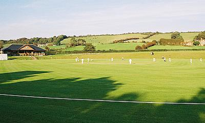 General view of club cricket in England