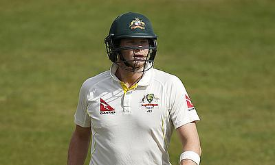 Australia's Steve Smith looks dejected as he walks off after being dismissed for a duck.