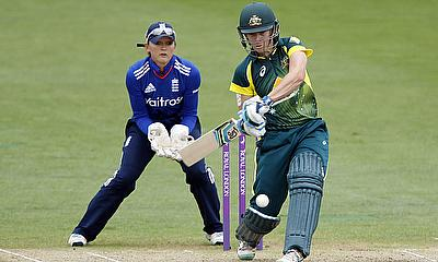 Elyse Villani, pictured here playing against England, hit 80 in 55 balls