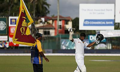 Kumar Sangakkara walking off one final time after dismissed for 18 on day four of the second Test against India in Colombo.
