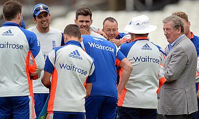 Roy Hodgson pictured with the England cricket team ahead of the fifth and final Ashes Test