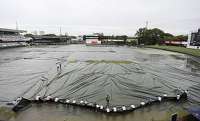 Only 15 overs were possible on day one of the final Test between India and Sri Lanka in Colombo as persistent rain made play impossible once it was in