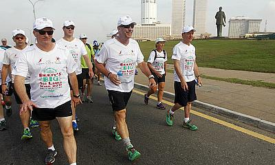 Sir Ian Botham, pcitured here during his most recent charity walk, in Sri Lanka
