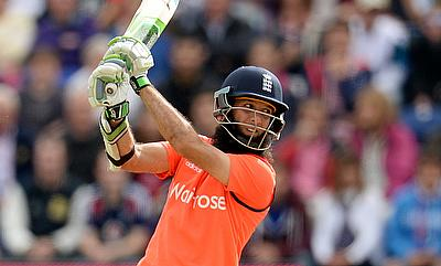 Moeen Ali in action for England