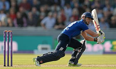 James Taylor hits out during the third ODI against Australia