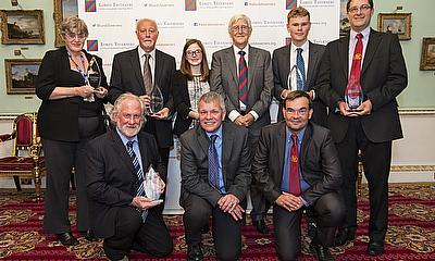 The winners of the inaugural Sporting Chance awards at London's Mansion House