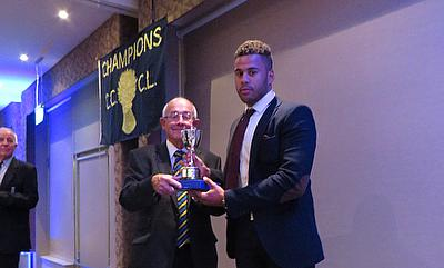 Tyrone Lawrence receives his award from John Bygate