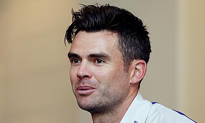 James Anderson in a press conference in UAE.