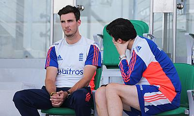 Steven Finn (left) has been ruled out of the first Test against Pakistan in UAE.