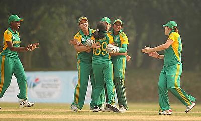 South Africa Women celebrate victory