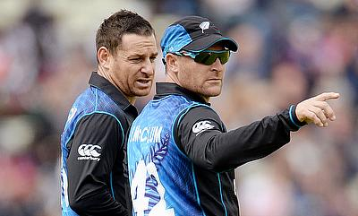 McCullum brothers in action for New Zealand.