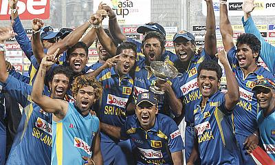 Sri Lanka celebrate winning the Asia Cup 2014