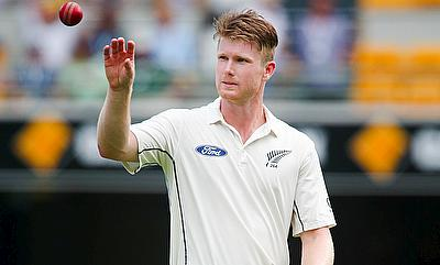 James Neesham has been suffering from a sore back which he sustained during the first Test against Australia in Brisbane.