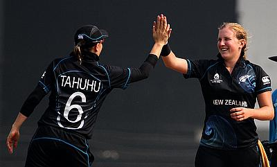 Morna Nielsen (right) delivered a spell that blew away the Sri Lankan lower order as well as opener Chamari Atapattu