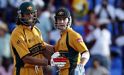 Andrew Symonds (left) said Michael Clarke (right) was not a natural leader like Ricky Ponting or Steve Waugh.