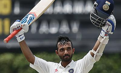 Ajinkya Rahane completed his second century in the game on day four of the fourth Test against South Africa in Delhi.