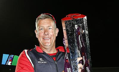 Ashley Giles, pictured here with the NatWest T20 Blast trophy in 2015