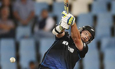 Mitchell McClenaghan scored a 18-ball 31 before retiring hurt in the first ODI in Wellington.