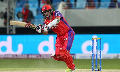 Brad Hodge scored an unbeaten 65 off 43 deliveries for the Gemini Arabians against Leo Lions.