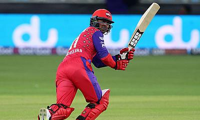 Kumar Sangakkara notched a run-a-ball 41 for Gemini Arabians against Leo Lions.
