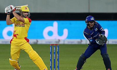 Adam Gilchrist's (left) 46-ball 57 wasn't enough for Sagittarius Strikers in the chase.
